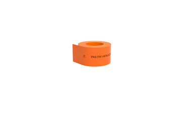 Kabelafdæk orange 100x1,8 mm i rl á 50 mtr - Giv agt - herunder lysleder 10480