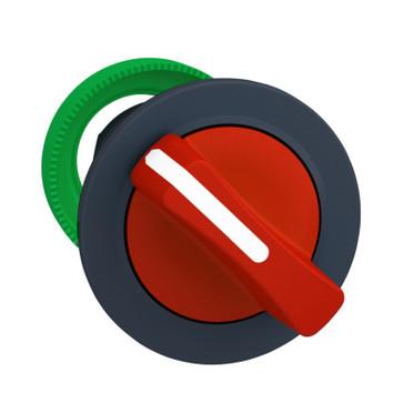 Harmony flush drejegreb i plast med et kort rødt greb med 2 positioner og fjeder-retur fra H-til-V ZB5FD404