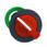 Harmony flush drejegreb i plast med et kort rødt greb med 2 positioner og fjeder-retur fra H-til-V ZB5FD404 miniature