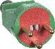 LK stikprop 2-polet med DK-jord, Type 186 brudsikker, rød/grøn 1028005756