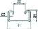 Ankerskinne Pre-galvaniseret 21X41 mm C2 3000 mm MP-231S 231S miniature