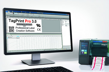 Labelsoftware TagPrint Pro 4 inclusive thermal transfer printer TT431 0500-10545