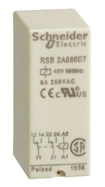 Stikbensrelæ 2C/O 8A 48VAC RSB2A080E7