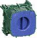 OPUS 66 dåse for indmuring grøn 1 modul 1017033140