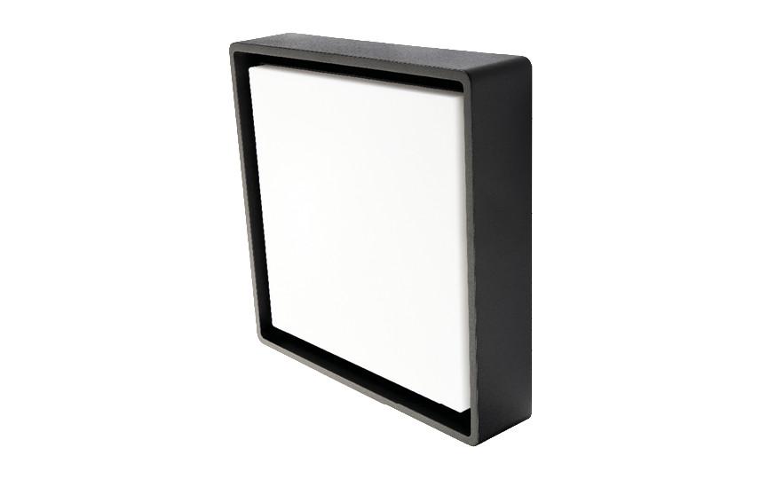 Frame Square Maxi Sort LED 3000K Nødlys