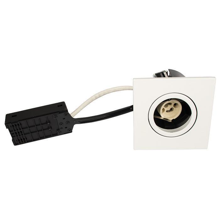 Luna Quick install 230V GU10 IP44 Mat Hvid Firkantet.