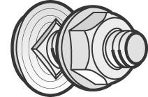 Bolt / møtrik BTRCC 6x12 ZnL (100) 801007