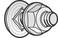 Bolt / møtrik BTRCC 6x12 ZnL (100) 801007 miniature