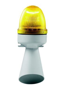 Horn med lys 240V AC BA15D 10W Gul, 314.4.240 40705
