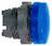 Harmony signallampehoved i plast for LED med aftagelig blå linse for isætning af skilt ZB5AV063E miniature