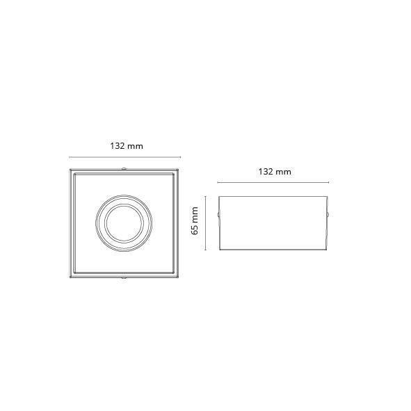Cube Hvid 6W DimToWarm 2000-2800K