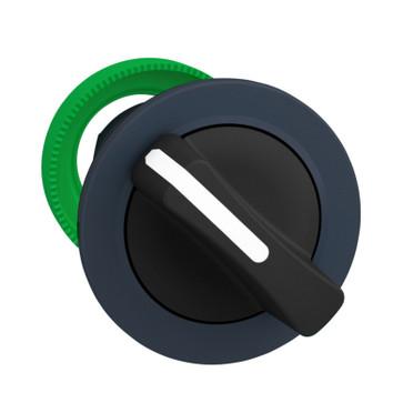 Harmony flush drejegreb i plast med et kort sort greb med 2 positioner og fjeder-retur fra H-til-V ZB5FD4