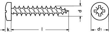 4,5X45/42 ZP wood screw PAN-Z 880930100045045