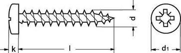 6,0X80/60 ZP wood screw PAN-Z 880930100060080