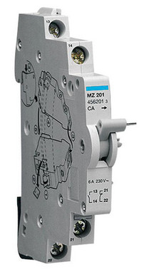Auxiliary contact 1C+1O 6A 240VAC MZ201