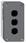 Trykknapbox tom med 3 hul grå/sort XALD03 miniature