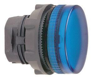 Harmony signallampehoved i plast for LED med riflet linse til udendørs brug i blå farve ZB5AV063S
