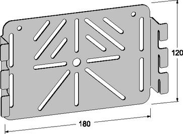Montageplade rustfri uden huller 739R