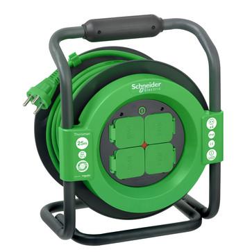 Thorsman kabeltromle 25 m ho7rnf 3g1,5 sort/grøn IMT33149