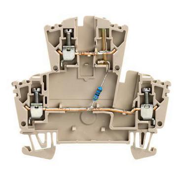 Dobbeltklemme WDK 2.5 Ld Gr 1R 24VDC 8010040000