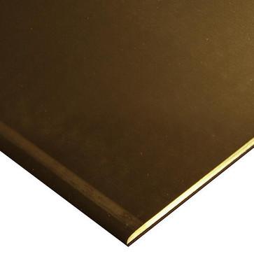 Kobberplade Cu-DHP halvhårde 2000x1000x2 mm