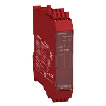Udvidelsesmodul, 8 stk Konfigurerbar status Output  (SIL 1/PL c i overensstemmelse med EN 61508:2010) med fjeder terminaler XPSMCMDO0008C1G