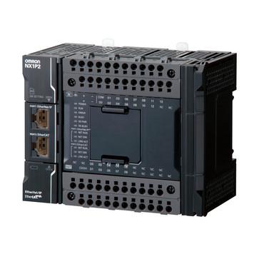 Sysmac NX1P CPU med 24 Digital Transistor I/O (NPN), 1,5 MB hukommelse, EtherCAT (0 servoAkser, 4 PTPAkser, 16 EtherCAT knudepunkter), EtherNet/IP og 1 seriel option port NX1P2-9024DT 672509