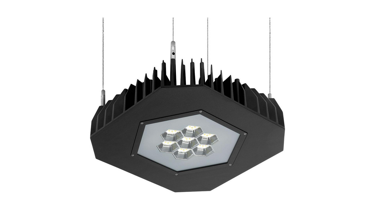 Grafias Sport OMS 10400lm/94W/840 LED Fix IP66 nedhængt med wire sort