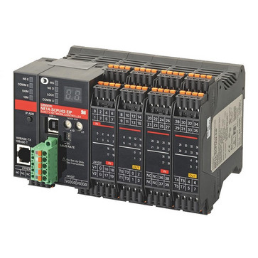 Sikkerhed netværk kontroller, 40xPNP input, 8xPNP output, 8xtest udgange, IP NE1A-SCPU02-EIP VER1.0 313544