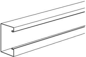 Steel trunking TAS+U130/72 white INS5552003