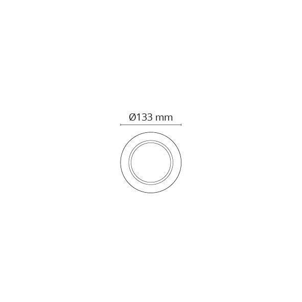 Rehab Ring 133mm Børstet stål