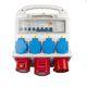 Byggepladstavle kompakt 32A, 6 udtag, ABS Plast (2019 version) 7812500089