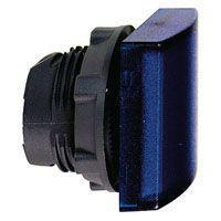 Harmony signallampehoved i plast for LED med firkantet linse i blå farve ZB5CV063