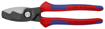 Knipex Cable shears 95 12 200 with multi-component gribs KN-9512-200