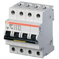 Automatsikring B 40A, 3-polet + nul B-karakteristik, brydeevne 10kA, 230/400V AC, 70mm bred S203M-B40 NA 2CDS273103R0405