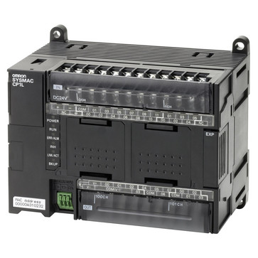 PLC, 24VDC forsyning, 18x24VDC indgange, 12xNPN udgange 0,3A, 2xanaloge indgange, 10K trin program + 32K-ord datalager, 1xEthernet-port CP1L-EM30DT-D 667988