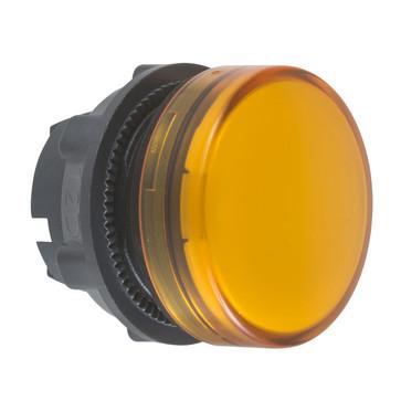 Harmony signallampehoved i plast for BA9s med linse i orange farve ZB5AV05