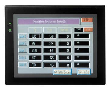 Touch screen HMI, 10,4 tommer skærm, TFT LCD, 8 farver, 640x480 pixel, 2xRS232 porte, 1xRS422 port, printer port, 24VDC, sort case NT631C-ST153B-EV3 CHN 237002