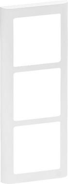LK FUGA antibakteriel SOFT designramme 3 modul lodret, hvid 580D6130