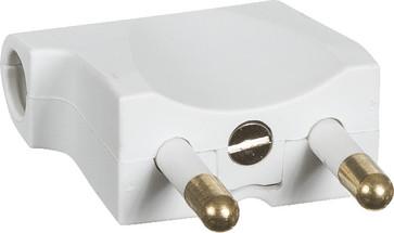 Stikprop 2P flad vinkel V1 hvid 210A6030