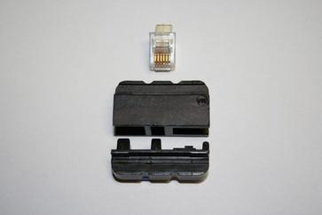 Dies for 106000, for 6-pin modular plugs, RJ11/RJ12 106016