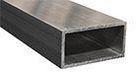Aluminiumrør, rektangulære i legering 6060/6063