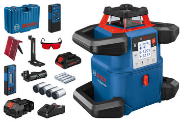 Blå Bosch Rotationslaser GRL 600CHV M/LR 60 M/RB60 0601061F00
