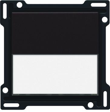 Tangent, enkelt, med tekstfelt, black coated 124-60905