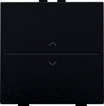 Tangent med pil symboler til 2-tryk, Bakelite® piano black coated 200-00004