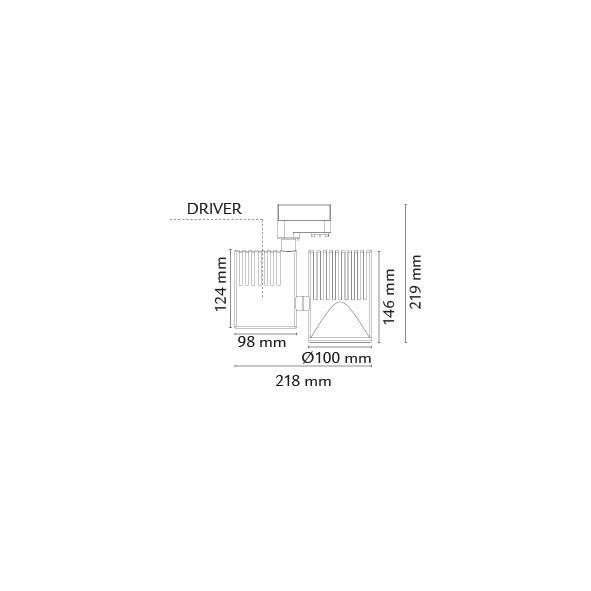 Zip Pro Mat-Hvid 36W LED 3000K 15° 3Fase