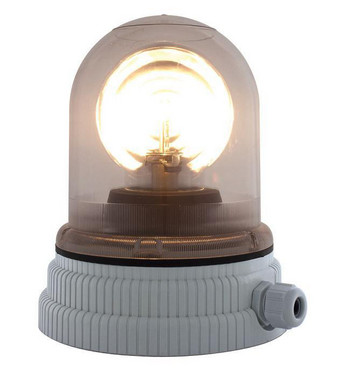 Roterende lampe 24V - Klar, 200R, 24 26366