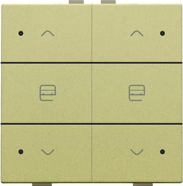 Motortryk dobbelt med LED, gold coated, NHC 221-52036