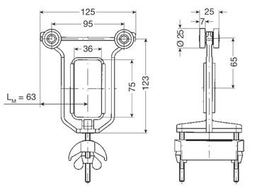 Medbringervogn for fladkabel, plast 0313294