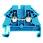 Gennemgangsklemme WDU 2,5N blå 102378 1023780000 miniature